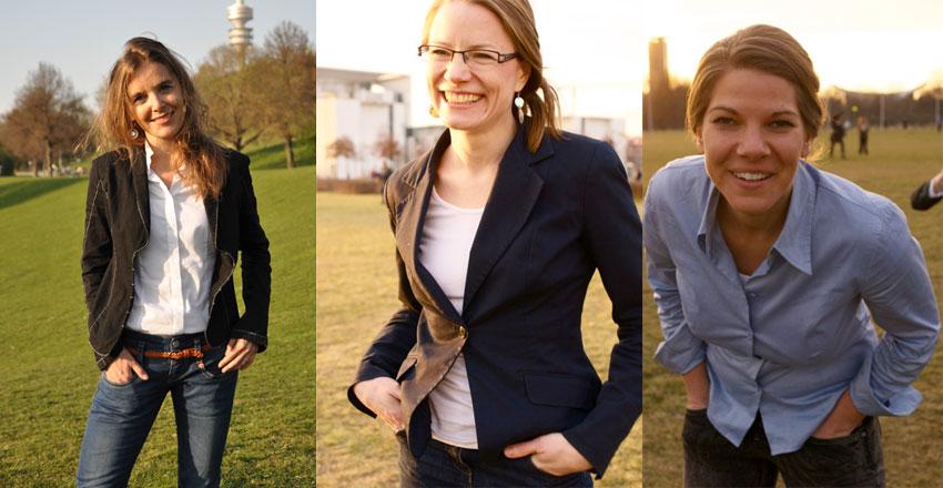 Команда Hostwriter слева направо: Сандра Цистл, Тамара Антони и Табеа Гжешик