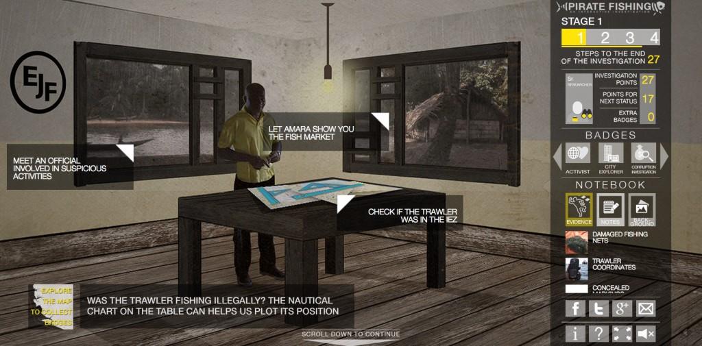 Спецпроект Al Jazeera предлагает читателям самим заняться расследовательской журналистикой и выследить пиратов у побережья Сьерра-Леоне - в игровой форме