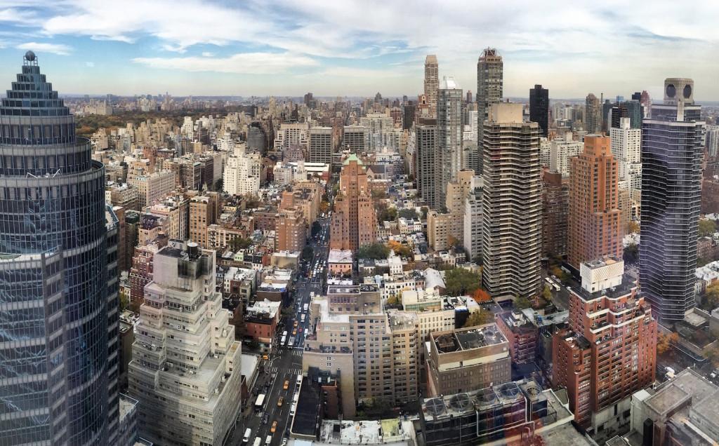Вид из штаб-квартиры Bloomberg в Нью-Йорке